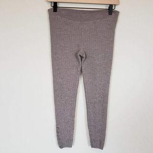 Anthropologie Sleeping on Snow Wool Knit Pants Tan